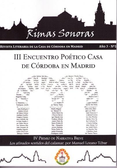 III Encuentro Poético Casa de Córdoba en Madrid