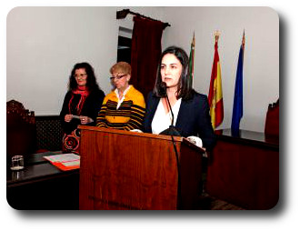 Lectura del fallo del jurado. Certamen de Cartas de Amor. Coria (Cáceres)