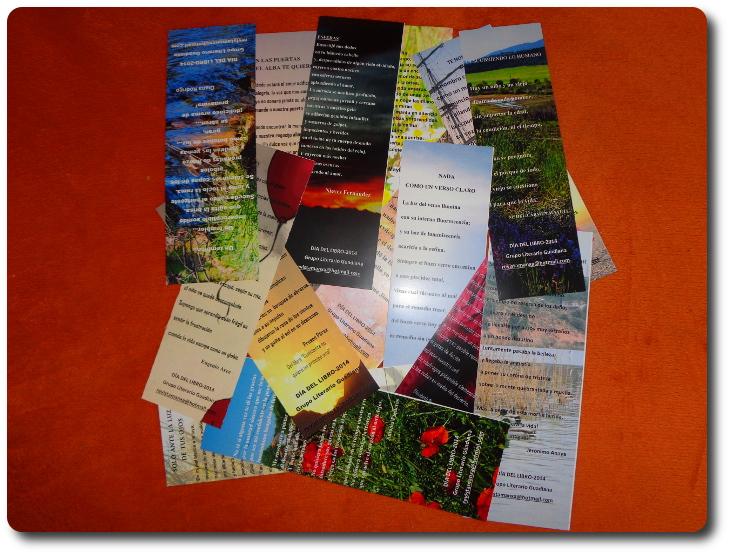 Edición de marcapáginas 2014. Grupo Literario Guadiana