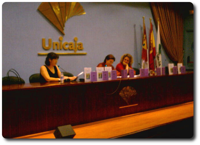 Momento de la presentación. Salón de Actos de Unicaja. Ciudad Real