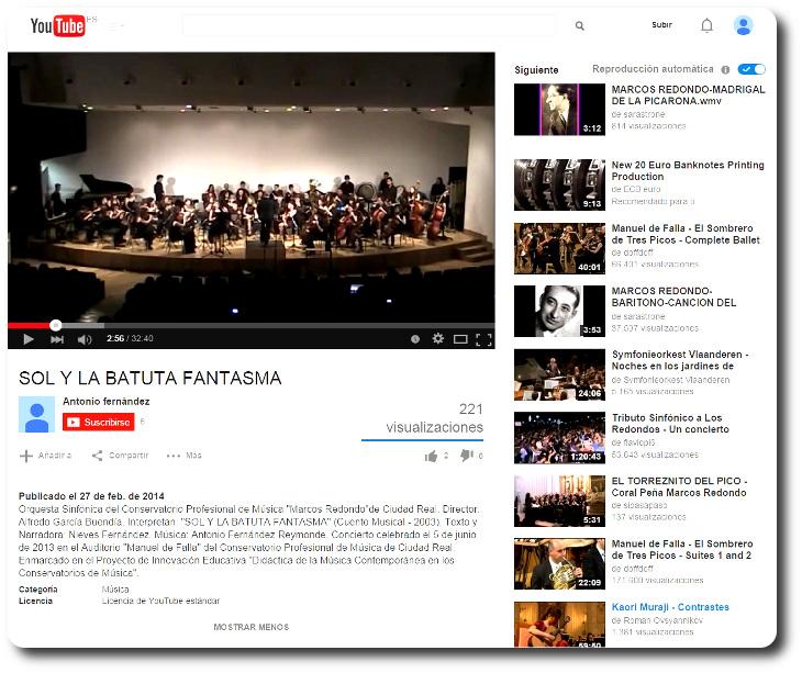 'Sol y la batuta fantasma' Publicado en YouTube