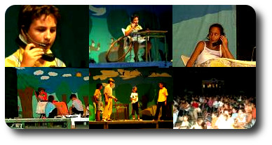 Escenas de la representación de Telecosquillas en Mengibar