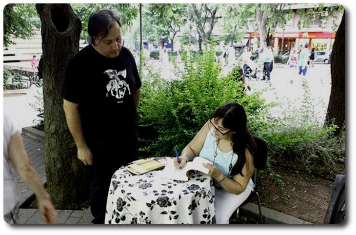 Firma en Feria del libro de Puertollano