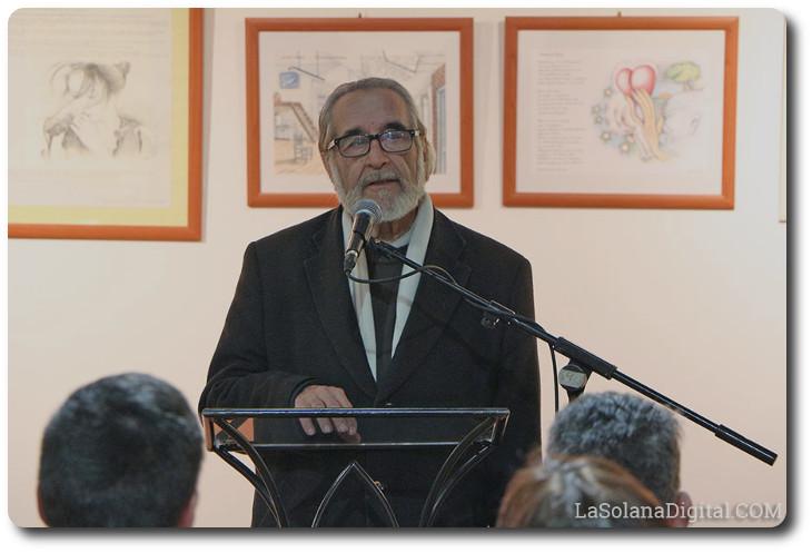 Luis Molina en la Presentación del I Salón del Libro Ilustrado Casa de la Encomienda. La Solana